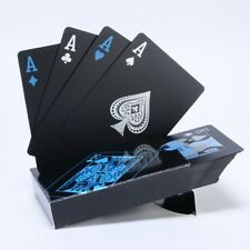 Cartes à jouer Magic Waterproof Noir Plastique PVC poker jeux de fête 54 cartes