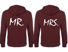 Couple Matching Hoodies Mr.and Mrs. Back Print Hooded Sweatshirts Jumper