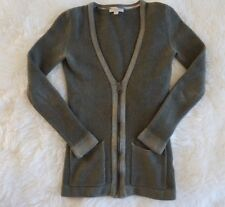 Burberry Brit Extra Fine Merino Wool Cardigan size XS/S Green, fitted