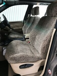 BMW X5 Sports E53 2004 Genuine Lambs Wool Seat Covers For Front Seats.