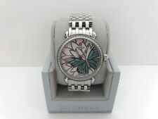 NEW MICHELE CSX GARDEN PARTY TOPAZ TURQUOISE LIMITED EDITION WATCH MWW05D000021