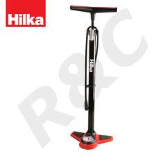 Hilka High Pressure Bicycle Track Floor Pump Twin Valve Head Bike Tyre Inflator