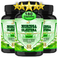 Moringa Oleifera Organic Leaf Extract 10,000mg Serving 100% Pure Capsules 180
