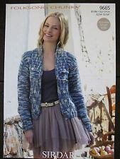 """Sirdar Knitting Pattern: Ladies Jacket Cardigan, Chunky, 32-54"""", 9665"""