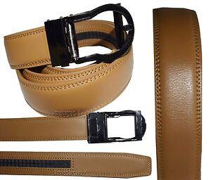 "Women's belt-Leather Dress Belt-Ladies Comfort Auto Lock New buckle up to 43"""