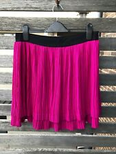 Saba Jasper Pleated Skirt Fuchsia / Magenta / Pink Size 10