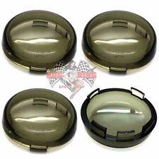 4 Smoke Turn Signal Lenses Kit for 2002-2016 Harley Bullet Dome Style Blinker