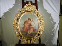 Antique c16-1700's Italian Master Original Oil on Canvas Cherub