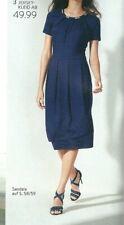 Jerseykleid Kleid Freizeitkleid Sommerkleid Damen Etuikleid Viskose marine 48