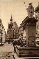 St. Wendel Saarland AK ~1920/30 Altstadt Dom Wendelinus Brunnen Pferde Denkmal