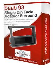 Saab 9-3 stereo radio Facia Fascia adapter panel plate trim CD surround Single
