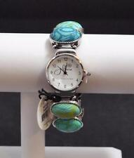 Jilzara Emerald Oval Watch Bracelet Polymer Clay Beads Handcrafted Artisan