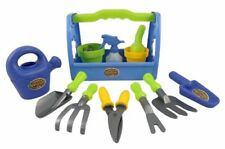 New Little Garden Tool Box 14pc Toy Gardening Tools Set for Kids Free Shipping