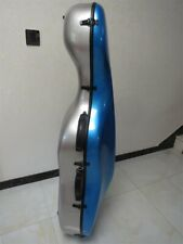 Grey+Blue color carbon fiber composite cello case 4/4 with wheels
