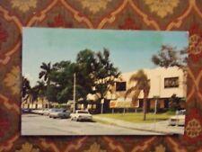 Vintage Postcard Mirror Lake Shuffleboard And Beach Club St. Petersburg, Florida