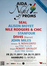 NIGHT OF THE PROMS - 2011 - Konzertplakat - Seal - Chic - Moyet - Miles