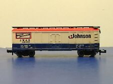 "N Scale ""Johnson Wax"" JWAX 49000 Forty Foot Freight Train Box Car"