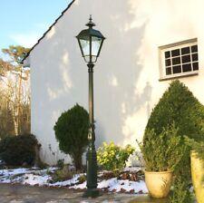 Große Lampe Retro Garten - Antike Parklampe - Gartenlampe Landhaus - H.263 cm