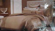 Hudson Park Luxe King Silk Gold Leaf Comforter Cover Msrp $575 Nip Beautiful!