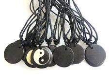 12pcs Handmade Tibetan Yak Bone Yin Ying Yang Sign Pendant Necklace