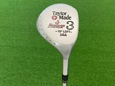 TaylorMade Golf BURNER (3) WOOD Right Handed + RARE TITANIUM SHAFT Stiff Flex