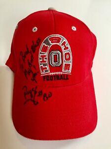 Reggie Germany #80 AUTOGRAPHED Ohio State Buckeyes The Shoe Football Hat Bills