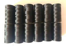 12 x Bobinas de Hilo De Seda 100% (  Color Negro )Alta Calidad Envió Gratis ESP