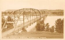 Forsyth Montana~Pennsylvania Truss 3 Span Bridge~One Survives~Homes~1920s Rppc