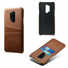 Brown Card Pocket Retro Luxury Slim Back Case Cover For OnePlus 7T Pro UK