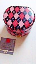 Ring Jewelry Box Holder By Totes Travel Case Pink & Black Diamond Mirror Hearts
