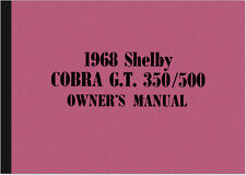 Ford Mustang Shelby Cobra GT 350 500 Bedienungsanleitung Handbuch Owner's Manual