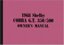 Ford Mustang Shelby Cobra GT 350 500 manual de instrucciones manual owner's Manual