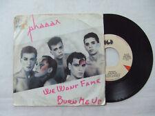 """Phaeax – We Want Fame / Burn Me Up - Disco Vinile 45 Giri 7"""" Stampa ITALIA 1985"""