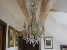lustre ancien à pampilles cristal