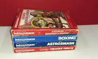 Intellivision Video Games Lot - Complete in boxes w/ Manual & Overlays - Vintage