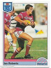 1992 NSW Rugby League REGINA Base Card (86) Ian ROBERTS Sea Eagles