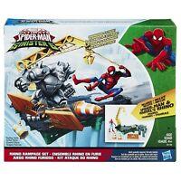 Marvel Spider-Man Figurine Rhino Rampage Play Set Hasbro