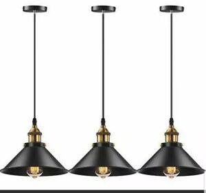 3 Pack Vintage Hanging Pendant Lights Retro Pendant Light Fixture Home Kitchen