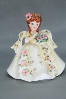 Vintage Marika's Original by Lefton Japan Girl with Flowers Figurine #4699