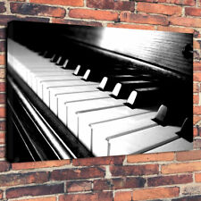 """Music Vintage Piano Keys Printed Box Canvas Picture A1.30""""x20""""30mm Deep Wall Art"""