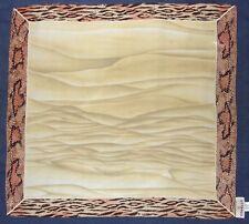 79d1080e4ce2e Small CODELLO Abstract Waves ANIMAL Print Beige Pink Yellow Silk Scarf  Bandana