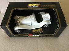 Bburago 1932 Alpha Romeo 2300 Spider White ( 1:18 Die Cast Metal Car )