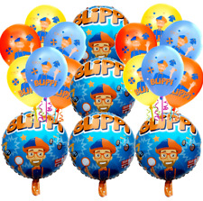 BLIPPI BANNER PLATES CUP TOPPER BIRTHDAY CUPCAKE PARTY BALLOON SUPPLIES CAKE