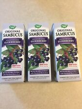PACK of 3: Nature's Way Sambucus Black Elderberry Syrup 8oz  UPC 033674153321