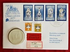Numisbrief Philatelie der DDR Philatelia Köln 89 Porzellan Medaille Meißen