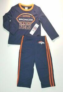 Denver Broncos Toddler NFL Pants & T-Shirt Set 3T NWT Own The Field Jogger sport