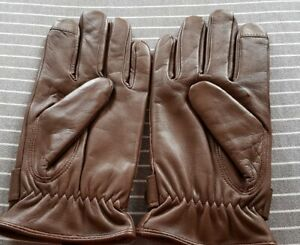 Polo..by Ralph Lauren. Nappa Leather Gloves in Brown. Size Small. Unworn!!