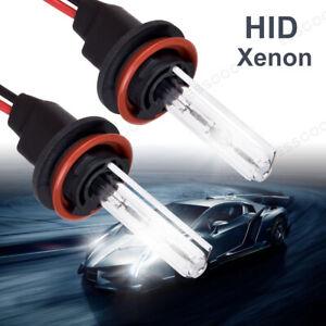 2Pcs H11 55W Hid Kit White Xenon HeadLight Bulbs 6000K Replacement Bright 12V