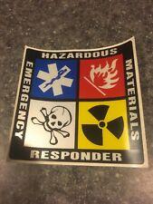 Emergency Responder Hazardous Materials Decal Lot Of 4