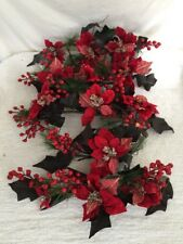 Lot 5 Home Interior Homco Holly Berry Foliage Greenery Swag Poinsettia